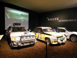 ラリー車の展示