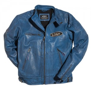 Warson Motors - MOTORCYCLE LEATHER JACKET (ブルー)