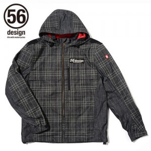 56design-sline-cotton-parka-md-check