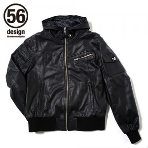 56design_s_line_light_leather_parka_black