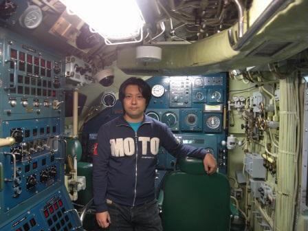 潜水艦「あきしお」操舵室